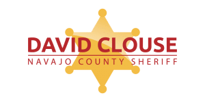 Sheriff David Clouse Logo with badge in the middle
