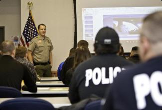 Sheriff Clouse educating law enforcement