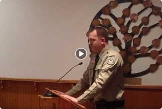 Video of newly appointed Sheriff David Clouse