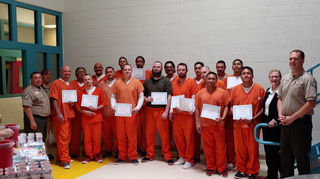 Inmates graduate from Alcohol and drug awareness program