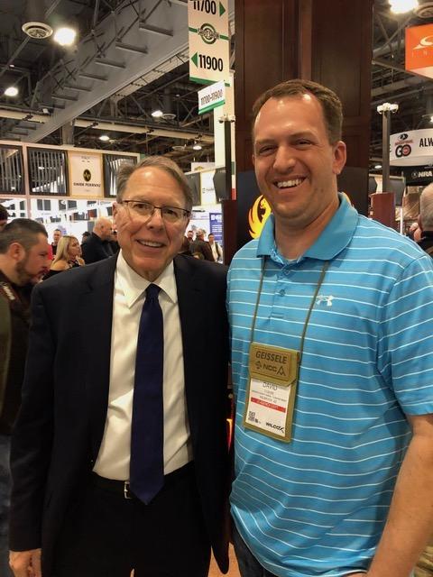 NRA President Wayne LaPierre and Sheriff David Clouse
