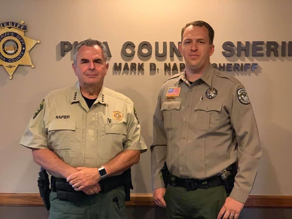 Sheriff Mark Napier and Sheriff David Clouse
