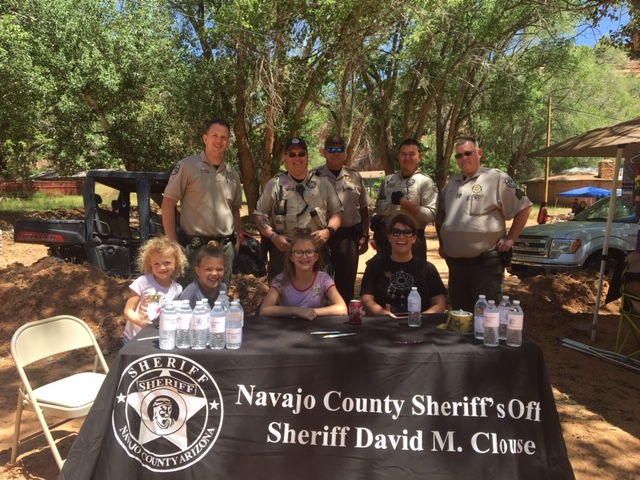 Sheriff Clouse booth at Rock the Canyon Event
